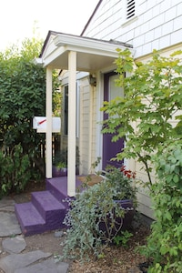 Front purple porch