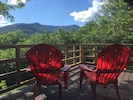 Summer view of Mt Mansfield from deck
