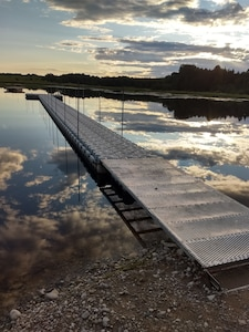 110' Floating Dock in pond that was dredged in 2019