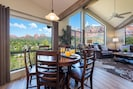 Dining for 6 inside with amazing views