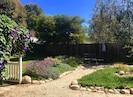 Peaceful, large backyard