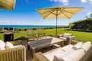The Gull House outdoor patio and backyard w/ grill & direct view & beach access