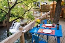 ...and dine al fresco to the soothing sound of falling water.