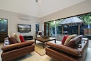 Family room outdoor onto outdoor pavilion