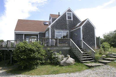 Great secluded location, water views, and 2-minute walk to beach by private path