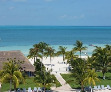 Property is located at the best beach in Cancun