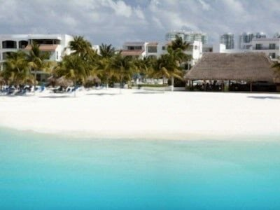 Beachscape hotel beach is expansive and semi-private with no street access