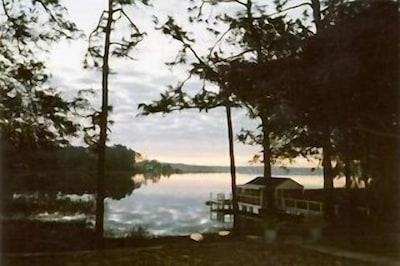 Beautiful sunrises from lakeside porch.