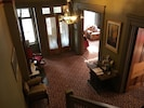 Ariel view of the Stone Gables Bed and Breakfast foyer and parlor.