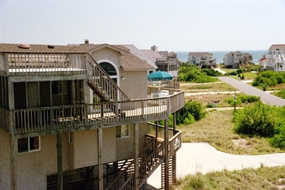 House and view toward ocean from neighboring home.