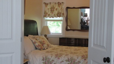 Queen size bed, closet, dresser/mirror, chest of drawers