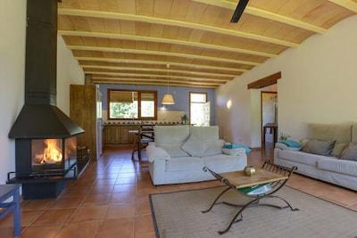 Vista del salón, cocina-comedor. Salida a terraza privada