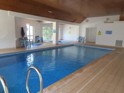 The heated swimming pool and toddler pool....you will be given the key.