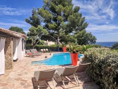 Villa La Crespina - terrasse Sud, vue mer...