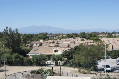Vue sur le paysage depuis l'appartement