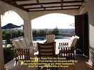 Covered veranda gives cool outdoor / indoor area