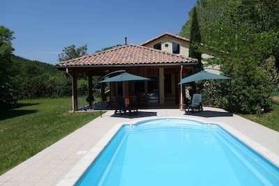 Swimming pool and terrace.
