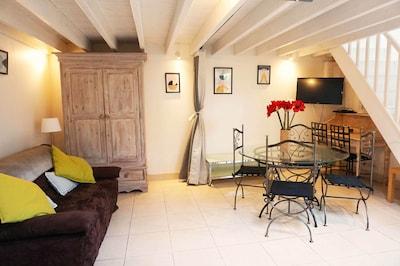Duplex Deauville centre 2/5personnes dans résidence charmante, terrase privée