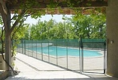 View of Pool (fenced)