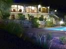Night time dip in the pool