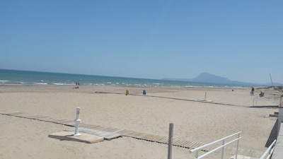 Strand von Pau Pi, Oliva, Valencianische Gemeinschaft, Spanien