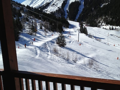 A lovely view showing that we are on the slopes.  Ski-in-ski-out bliss!