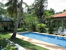 pool and the garden