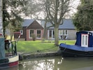 View from towpath to back of Wharf Stables in the Winter