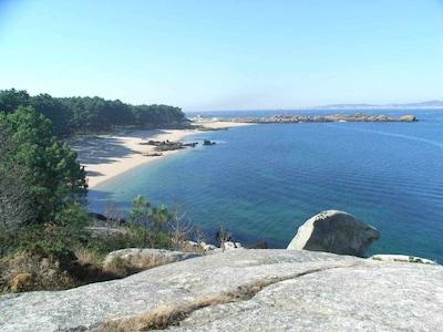 O Con Do Forno Viewpoint, Isla de Arosa, Galicia, Spain