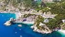 Erchie beaches aerial view