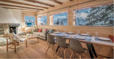 Courchevel 1850, renovated chalet 45 meters from the slopes and lifts