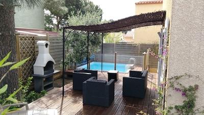 Salon d'extérieur, terrasse et BBQ