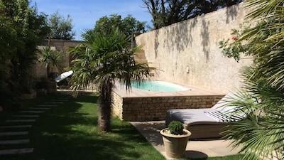 jardin avec spa