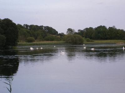 Malerische Aussicht auf den Rahans See