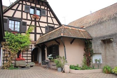 maison Alsacienne gite appartement et cour le gite du hibou