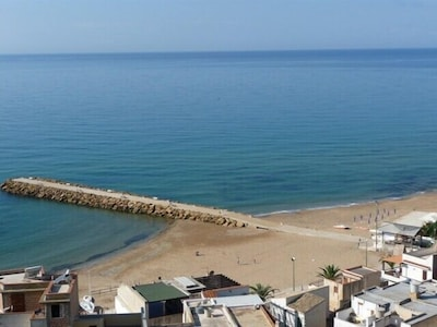 der Strand unterhalb der Casa Giglio im September
