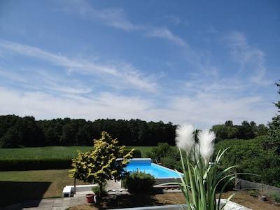 Blick vom Balkon Sonne ab Mittag (wenn das Wetter passt ;-)