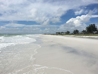 Gulf Beach access is just across the street from Sand Dollar Cottage