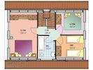 Grundriss des Obergeschosses des Ferienhauses Silb