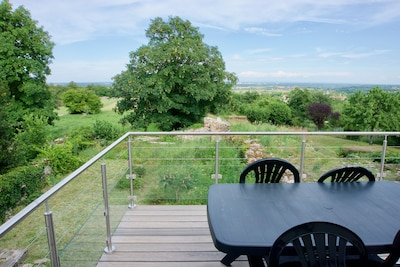 Vue exceptionnelle depuis la terrasse