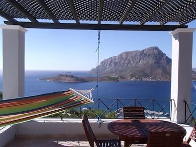 Kalydna-rotsen, Kalymnos, Zuid-Egeïsche Eilanden, Griekenland