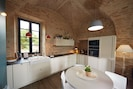 Fitted kitchen with top range kitchen appliance: Miele oven, Dishwasher...