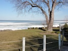 View of Lake Erie from deck.