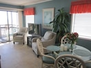 Direct oceanfront living and dining area.