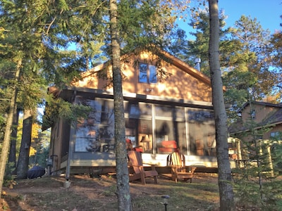 Lakeside View of the cabin