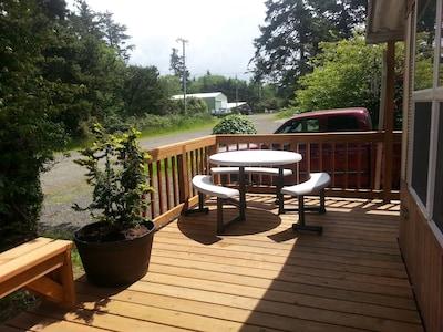 Enjoy a picnic on the deck.