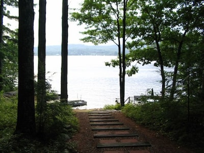 Plenty of privacy with a few steps to the lake.