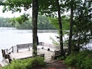 Relax on the deck overlooking Webster Lake!