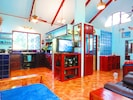 """Main room, 40"""" TV & DVD Player, Vaulted Ceilings, Natural Light"""