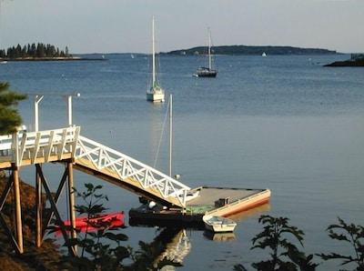 View of dock, looking towards Boothbay Harbor